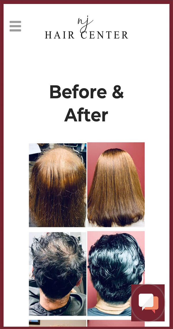 Eighty6 Portfolio - NJ Hair Center Responsive Website